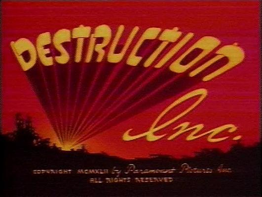Product picture SUPERMAN - DESTRUCTION INC. - CARTOON - 1942 - ANIMATION